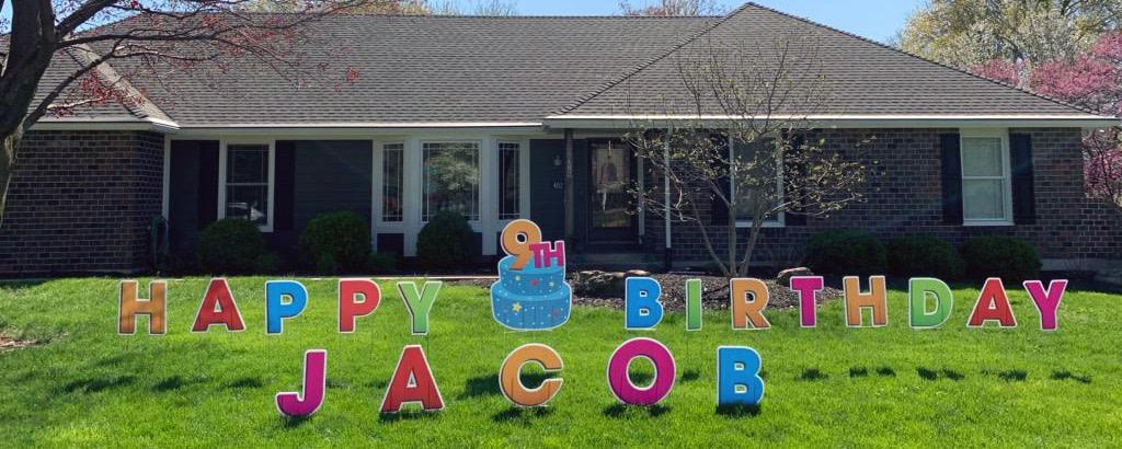 Happy Birthday Jacob Yard Sign