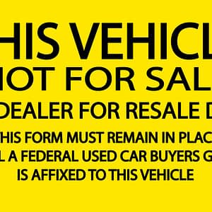 This Vehicle is not for Sale